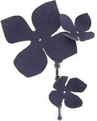 Marni Brosche mit Blumendesign - Blau