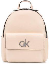 Calvin Klein Rugtas Met Logo - Naturel