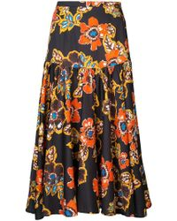 Warm - High-waisted Floral Skirt - Lyst