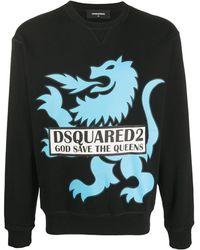 DSquared² Толстовка С Принтом - Черный