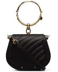 Chloé - Black Nile Small Quilted Leather Shoulder Bag - Lyst