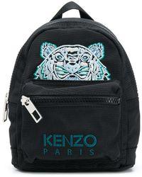KENZO Мини-рюкзак С Вышивкой Tiger - Черный
