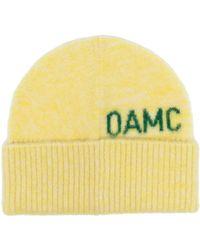 OAMC Intarsien-Mütze mit Logo - Gelb