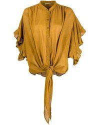 Mes Demoiselles Ruffle-sleeve Blouse - Yellow