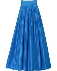 Carolina Herrera ボックスプリーツ マキシスカート - ブルー