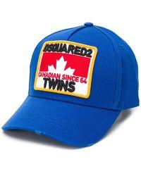 DSquared² Sombrero con logo - Azul