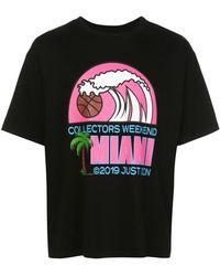 Just Don Miami プリント Tシャツ - ブラック