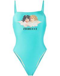 Fiorucci Angels ワンピース水着 - ブルー