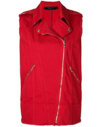 FEDERICA TOSI - Off-centre Front Zip Gilet - Lyst