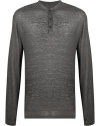 AllSaints ボタン Tシャツ - グレー