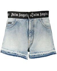 Palm Angels Denim Shorts - Blauw