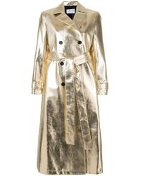 OSMAN - Double-breasted Metallic Trench Coat - Lyst