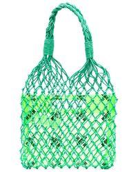 MSGM Сетчатая Сумка-тоут - Зеленый