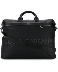 Dolce & Gabbana ラバーロゴ ボストンバッグ - ブラック