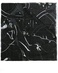 Valentino - Garavani Panther Print Scarf - Lyst