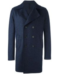 Harris Wharf London - Double-breasted Mid Coat - Lyst