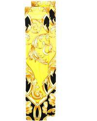 Versace Printed Lycra Socks - Yellow