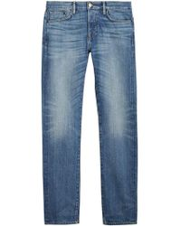 Burberry - Straight Fit Washed Japanese Selvedge Denim Jeans - Lyst