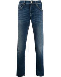 Dondup Jeans Met Stonewash-effect - Blauw