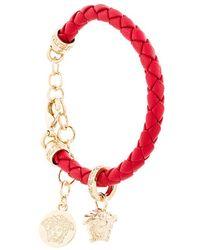 Versace - Woven Charm Bracelet - Lyst