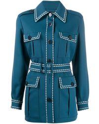Fendi Safari Shirt Jacket - Blue