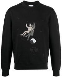 Soulland Zodiac Organic Cotton Sweatshirt - Black