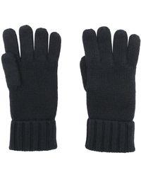 N.Peal Cashmere チャンキーニット カシミア手袋 - ブルー