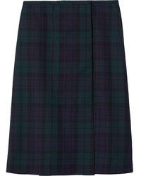 Marc Jacobs チェック スカート - ブルー