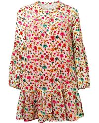 Mes Demoiselles Floral Print Short Dress - レッド
