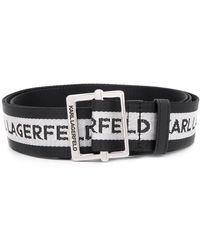 Karl Lagerfeld Karl Logo Webbing Belt - Black