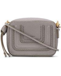 Chloé Mini Marcie Crossbody Bag - Gray