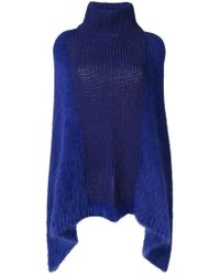 Cruciani - Knitted Cape - Lyst