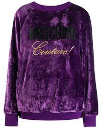 Moschino Felpa Couture! con logo - Viola