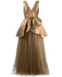 Alberta Ferretti - サテン イブニングドレス - Lyst