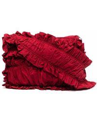 Molly Goddard Sac porté épaule à volants - Rouge