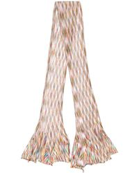 Missoni - Knitted Striped Pattern Scarf - Lyst