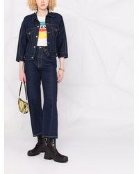 Ports 1961 Klassische Cropped-Jeans - Blau