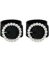 The Attico Swarovski Crystal Bracelet - ブラック