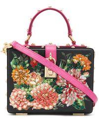 Dolce & Gabbana Mini-Box-Bag mit Nieten - Schwarz