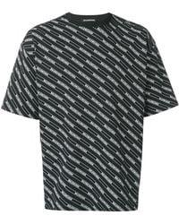 Balenciaga All Over Regular T-shirt - Black