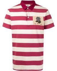 Kent & Curwen Striped Short-sleeved Polo Shirt - White