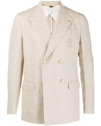 Billionaire Double-breasted Linen Blazer - Natural