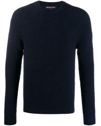 Michael Kors Slim-fit Ribbed Sweater - Blue