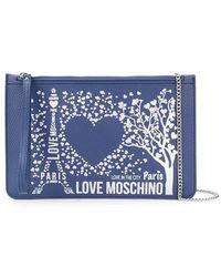 Love Moschino - Flat Paris Clutch - Lyst