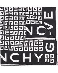 Givenchy 4gロゴ シルクスカーフ - ブラック