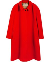 Burberry Double-faced Wool Cashmere Oversized Car Coat - Красный