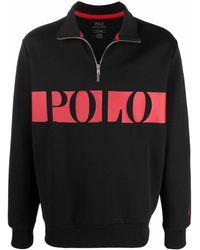 Polo Ralph Lauren ハーフジップ プルオーバー - ブラック