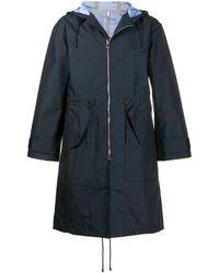 Loewe Hooded Zip-up Coat - ブルー