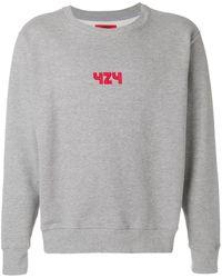 424 ロゴ Tシャツ - グレー