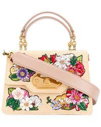 Dolce & Gabbana Borsa tote Welcome con ricamo - Multicolore